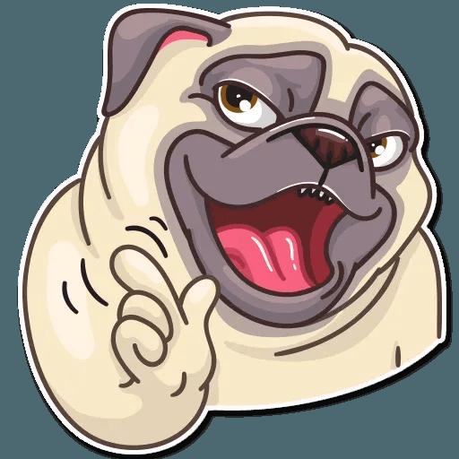 Pug Power - Sticker 28