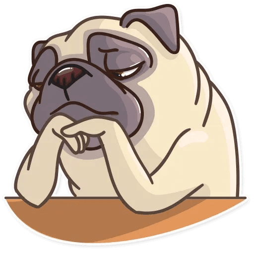 Pug Power - Sticker 24