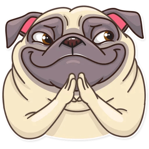 Pug Power - Sticker 1