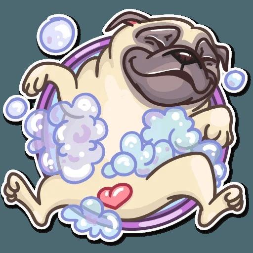 Pug Power - Sticker 23