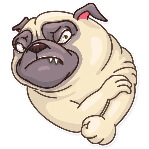 Pug Power - Sticker 14