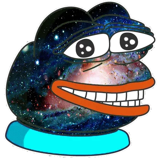 Pepe Galaxy - Sticker 3