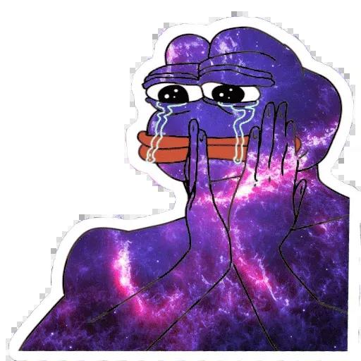 Pepe Galaxy - Sticker 29