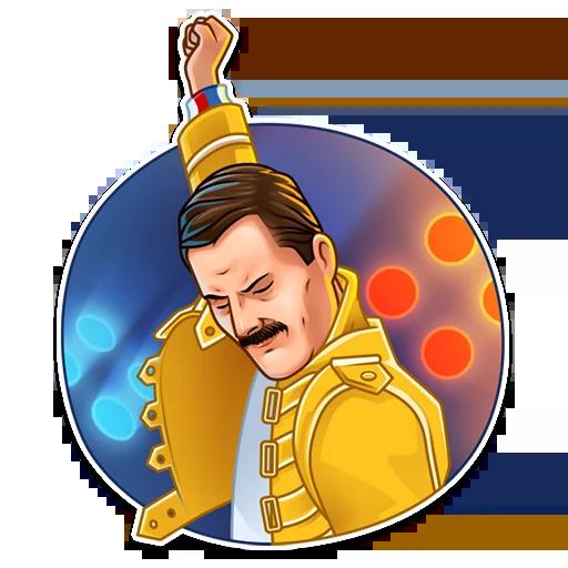 Freddie Mercury - Tray Sticker