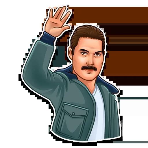 Freddie Mercury - Sticker 6