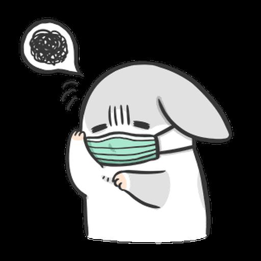 ㄇㄚˊ幾兔3 sad, sick, sorry 29 - Sticker 18