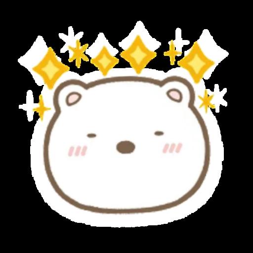 角落生物 白熊 - Tray Sticker