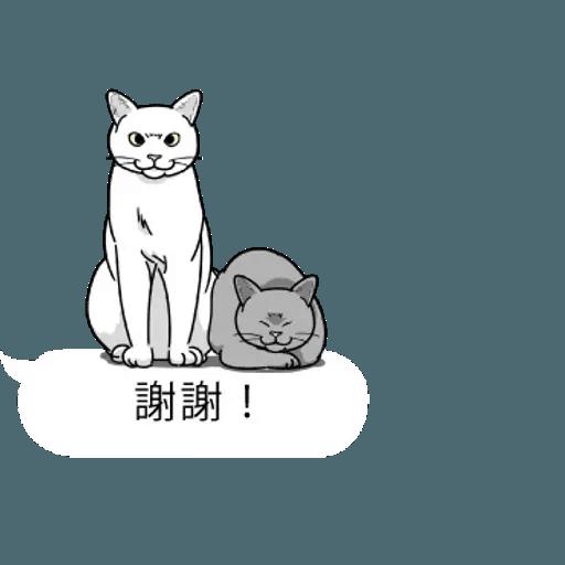群聚在對話框上的貓 - Sticker 15