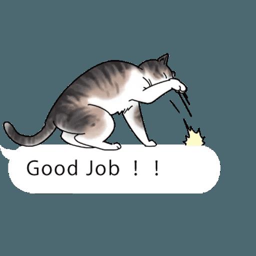 群聚在對話框上的貓 - Sticker 2