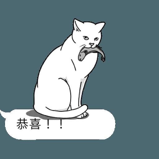 群聚在對話框上的貓 - Sticker 13