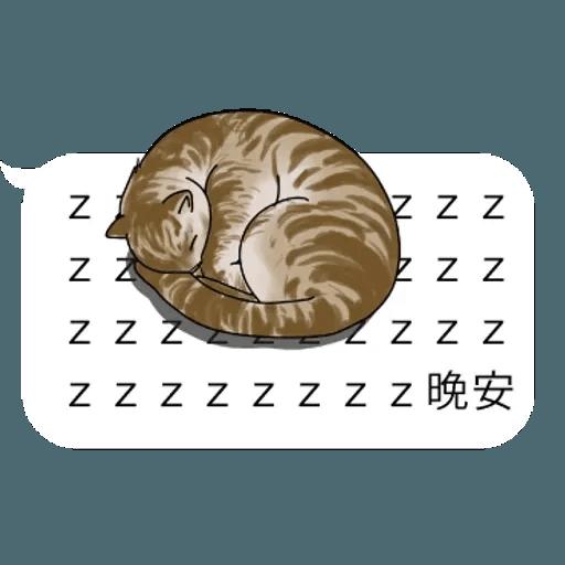 群聚在對話框上的貓 - Sticker 16
