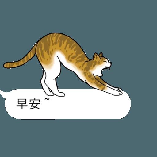 群聚在對話框上的貓 - Sticker 21