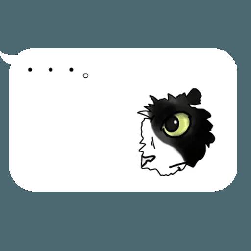 群聚在對話框上的貓 - Sticker 18