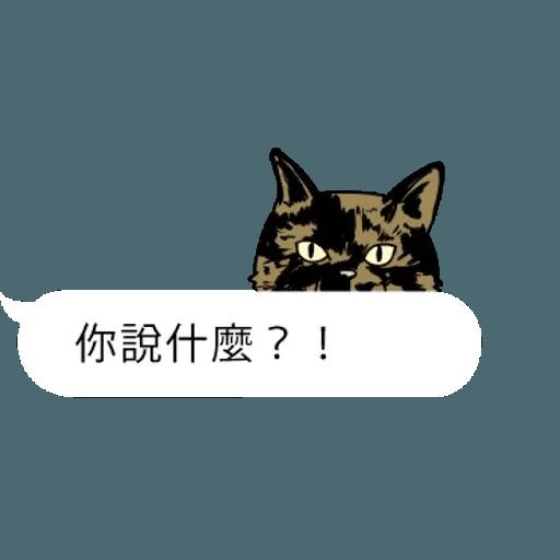 群聚在對話框上的貓 - Sticker 11