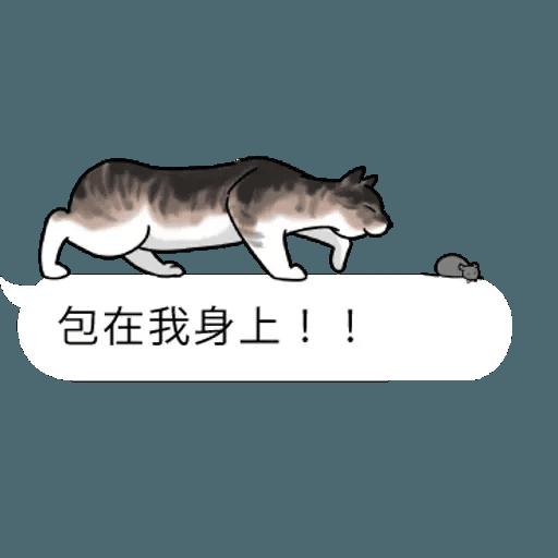 群聚在對話框上的貓 - Sticker 22