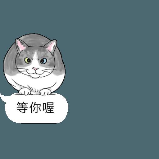 群聚在對話框上的貓 - Sticker 1