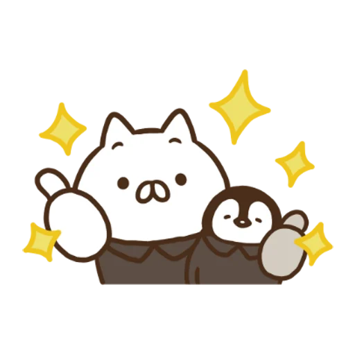 Penguin and Cat Days x RIZAP - Sticker 11