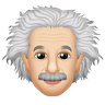 Einstein - Tray Sticker