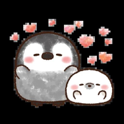 粉彩企鵝 - Sticker 22
