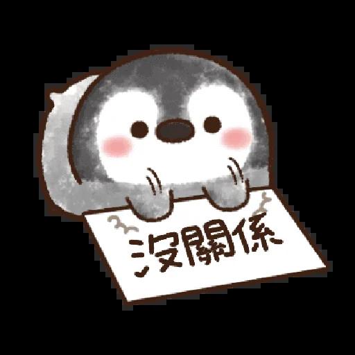 粉彩企鵝 - Sticker 21