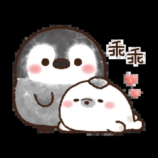 粉彩企鵝 - Sticker 15