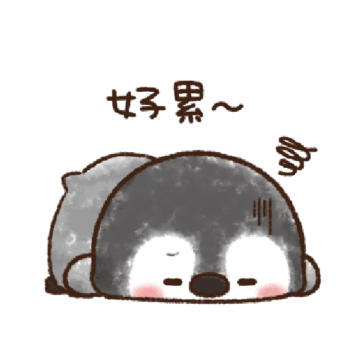 粉彩企鵝 - Sticker 18