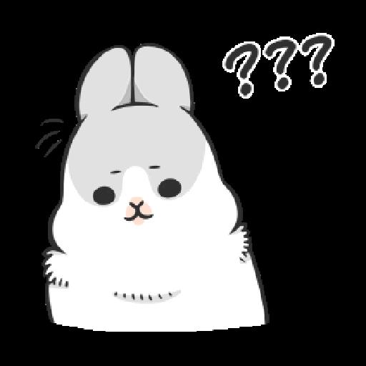 ㄇㄚˊ幾兔8 無奈,哦, 問, Fat - Sticker 21