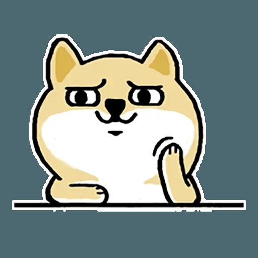 Shiba fat 1 - Tray Sticker