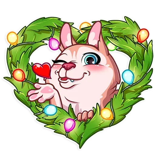 Christmas Dog - Sticker 2