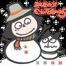 Mandycat 文地貓 x PRUDENTIAL 英國保誠 聖誕篇 - Tray Sticker