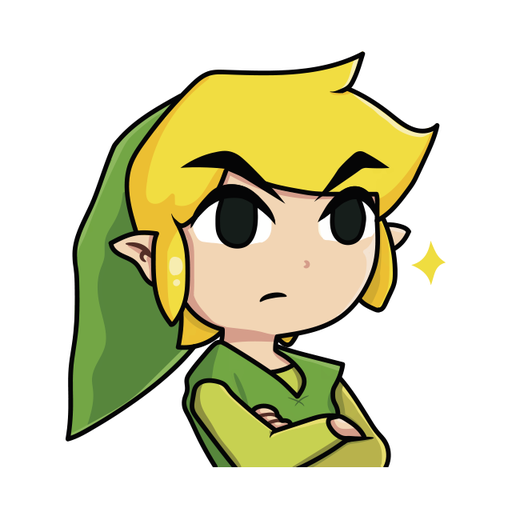 Toon Link - Tray Sticker
