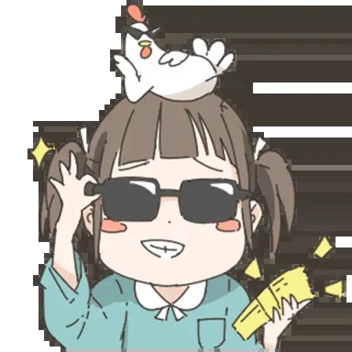 Nemechan and chicken - Sticker 6