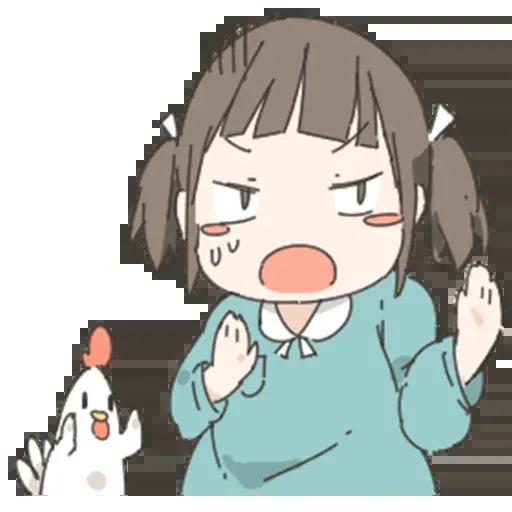Nemechan and chicken - Sticker 25