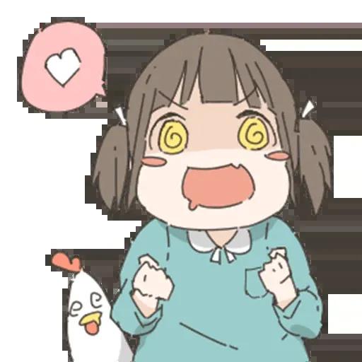 Nemechan and chicken - Sticker 13