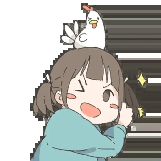 Nemechan and chicken - Sticker 5
