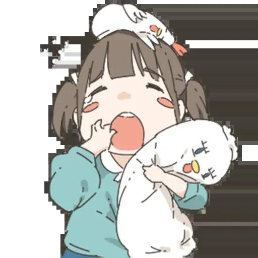 Nemechan and chicken - Sticker 17