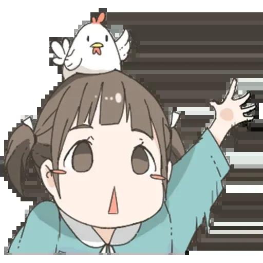 Nemechan and chicken - Tray Sticker