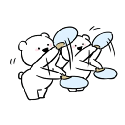 Extremely rabbit and bear - Sticker 29