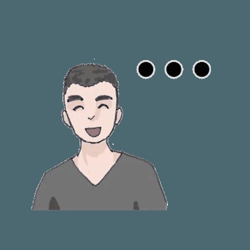 崩潰男友 - Sticker 11
