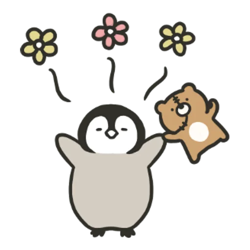 Penguin and Cat Days Classically Cute2 - Sticker 6