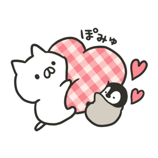 Penguin and Cat Days Classically Cute2 - Sticker 1