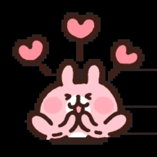 粉紅兔兔5 - Sticker 12