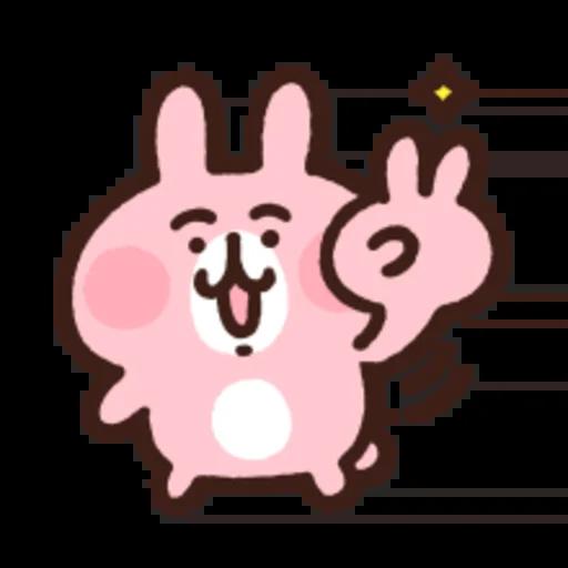 粉紅兔兔5 - Sticker 1
