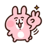 粉紅兔兔5 - Tray Sticker