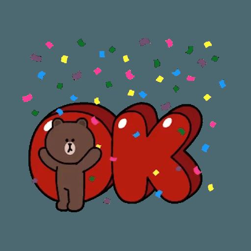 熊大兔兔迷你篇 - Sticker 1