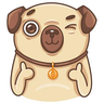 Doggy - Tray Sticker