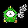 白熊聖誕版 - Tray Sticker