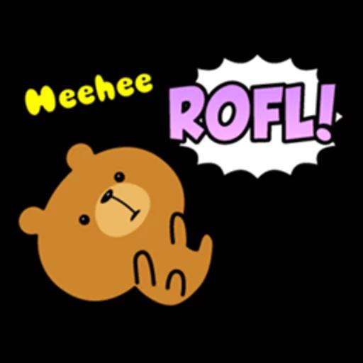 Bear bear Dos - Sticker 9