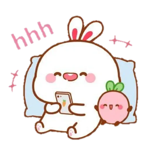 cute rabbit - Sticker 13