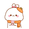 cute rabbit - Tray Sticker